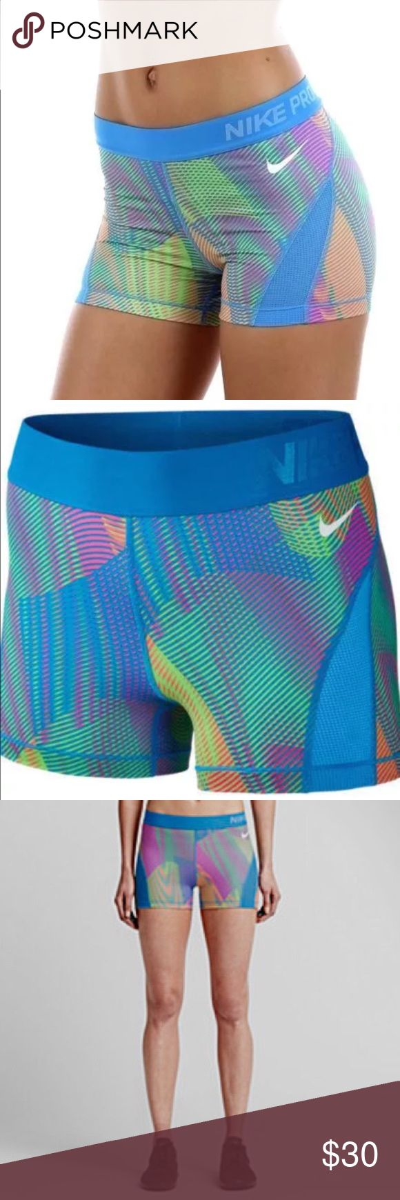 """Nike Pro 3"""" Hypercool Women's Training Shorts NEWEST DESIGN!  The Nike Pro Hypercool Frequency Women's Training Shorts are designed with stretchy sweat-wicking fabric & mesh for streamlined comfort & incredible ventilation where you need it most. Dri-FIT fabric helps by wicking sweat away from the skin to the fabric's surface, where it quickly evaporates. Fabric - Body: Dri-FIT 80% Polyester/20% Spandex. Gusset Lining: Dri-FIT 100% Polyester.  Color(s): Light Photo Blue/Hyper Pink.  MSRP $45…"""