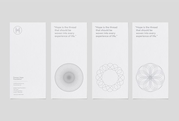 Picture of 14 designed by Branch for the project Forever Hope Foundation. Published on the Visual Journal in date 24 June 2016
