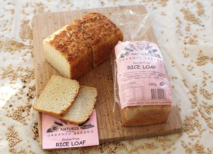 Naturis Rice Loaf (Gluten Free) (Ingredients: Whole brown rice, rice flour, rice leaven, cold pressed sunflower oil, sea salt and purified water added.)