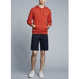 Hooded Jersey T-shirt, Red