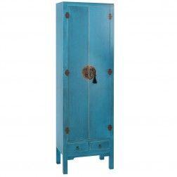 Armario chino azul oriente 2 puertas muebles chinos y for Muebles orientales madrid
