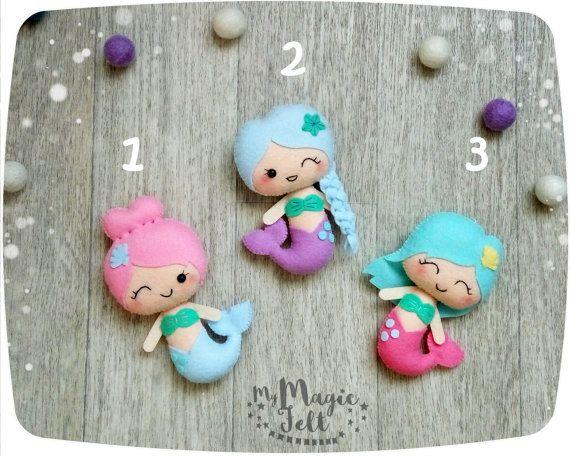 Linda sirena adornos decoraciones infantiles de por MyMagicFelt