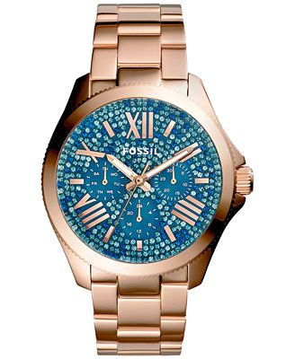 Fossil Women's Cecile Rose Gold-Tone Stainless Steel Bracelet Watch 40mm AM4594