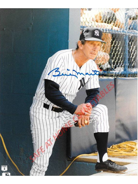 NY Yankee Manager Billy Martin Vintage by SANDJCRAFTSANDTHINGS