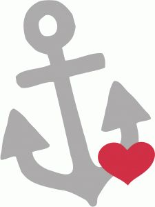 Silhouette Online Store: heart anchor