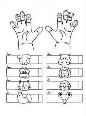 Old MacDonnald Had a Farm Finger Puppet Idea #preschool #circletime #nurseryrhyme