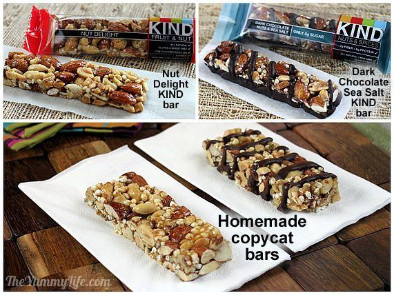 Homemade KIND bar copycats.  8 varieties. Easy and inexpensive. www.theyummylife.com/Homemade_KIND_Bars