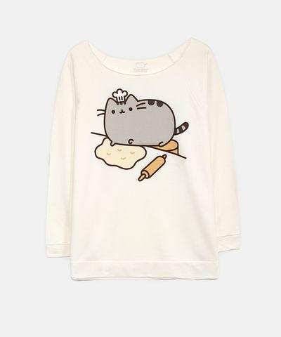 OMG I love pusheen! Baker Pusheen 3/4 sleeve raglan - Hey Chickadee