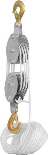 Rope Pulley Block and Tackle Hoist by samcomorg. $14.60. 2 ton hand block and tackle (4000 pounds) capacity four wheel rope pully hoist.