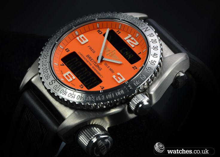 Watches.co.uk where time meets passion                Watches.co.uk Logo           Vibrant Orange Dial - Breitling Emergency Watch - E7632. We buy and sell Breitling watches. Contact us - www.watches.co.uk
