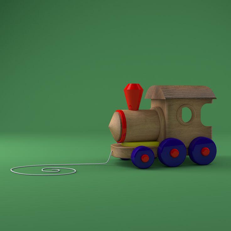 #c4d #cinema4 #render #toy #toys #woodtoy #3d #3dmodel #artdirection #lowpoly #kids #digitalart