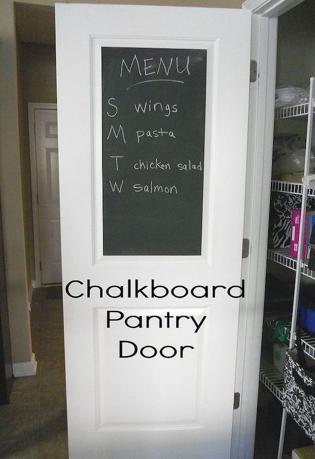 Chalkboard Pantry Doors | 12 Ingenious Kitchen Pantry Organization Projects You Should Try This Winter