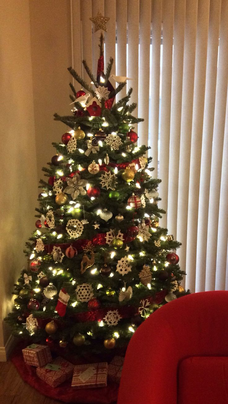 1000 images about christmas trees on pinterest trees Brown and gold christmas tree