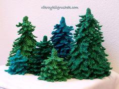 елки вязаные крючком
