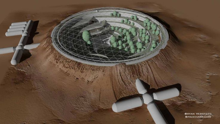 crater dome mars colony multiple levels of gardens fruit trees on some berry bushes or. Black Bedroom Furniture Sets. Home Design Ideas