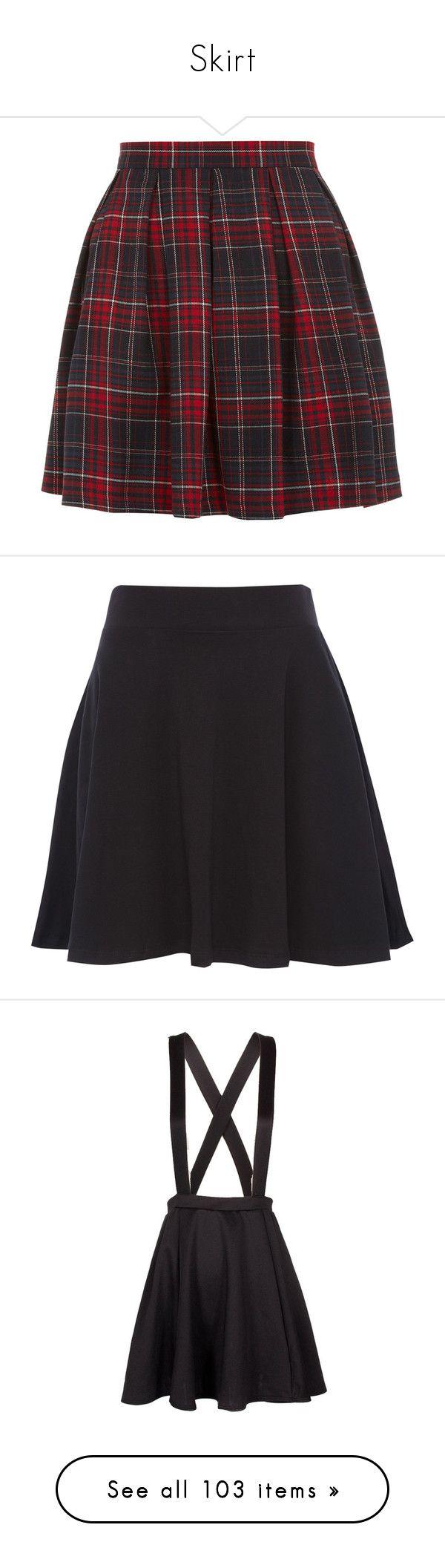 """Skirt"" by the-blueglasses ❤ liked on Polyvore featuring skirts, bottoms, saias, faldas, red knee length skirt, patterned skater skirt, red circle skirt, flared skirt, skater skirts and black"