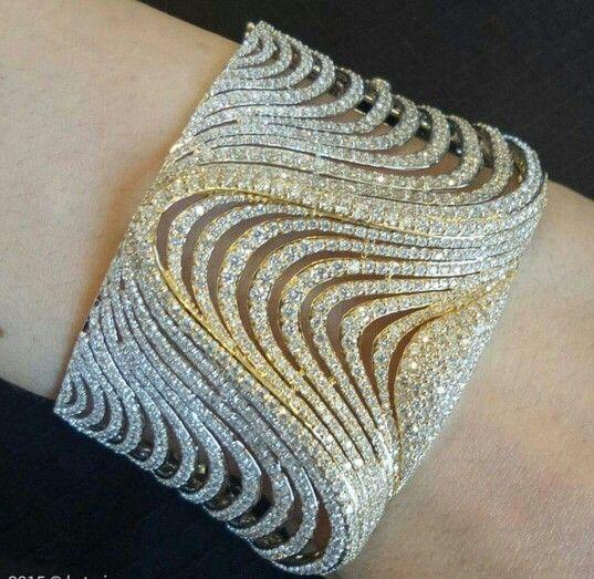 -Two tone gold & diamond bracelet.