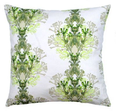 Mairo green Fager pillowcase. Designed by Anna Backlund.