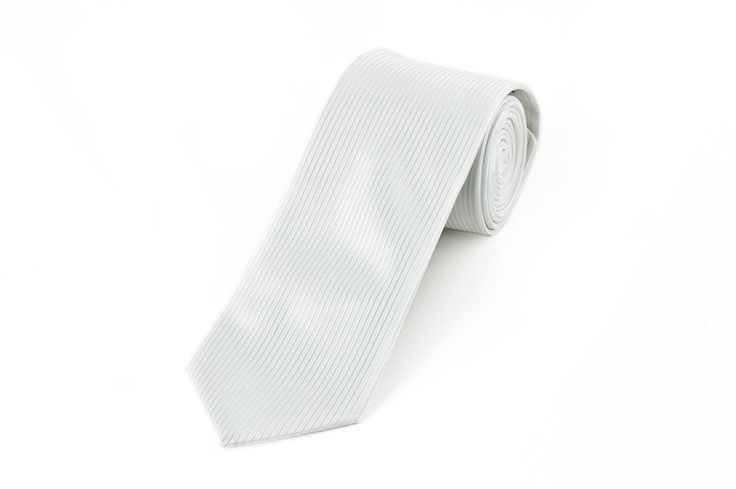White Stripe Vest Fabric Necktie