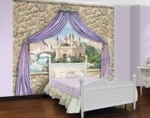 Enchanted Castles Canopy and Stone Wall Mural http://www.muralsforkids.com/products/Enchanted-Castles-Canopy-and-Stone-Wall-Mural.html