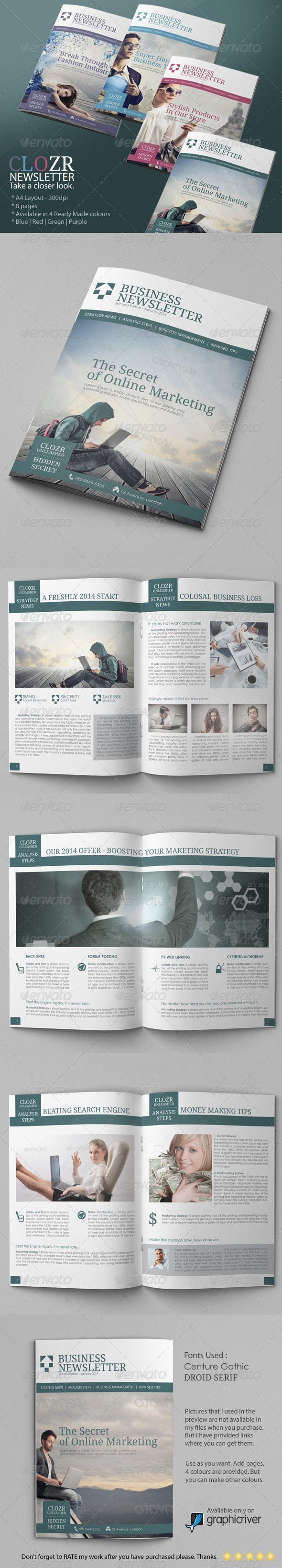 Best Newsletter Examples Adobe Photoshop Images On