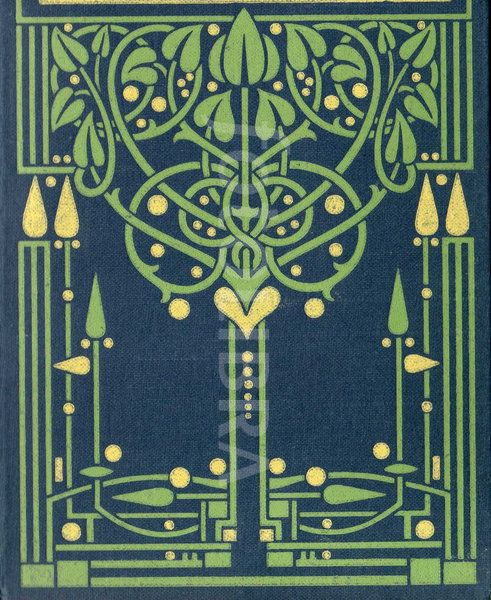 Art Nouveau Glasgow School book design. An original highly-stylized Art Nouveau design for a book binding, attributed to leading Glasgow School artist-designer Ethel Larcombe, c.1904-1908......