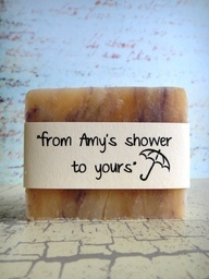 "Love it! Home made soaps for bridal ""shower"" gifts"