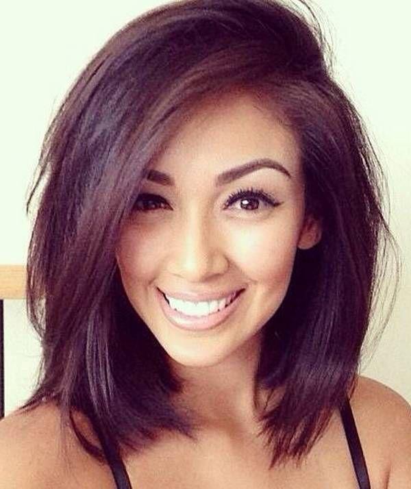 Incredible 1000 Ideas About Medium Straight Hairstyles On Pinterest Medium Short Hairstyles For Black Women Fulllsitofus