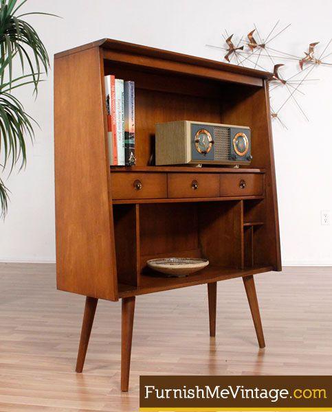 Mini Mid Century Modern Bookcase I need this please