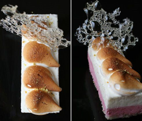 Creme Fraiche Blancmange and Plum Mousse Cake... and Petit Suisse Part ...