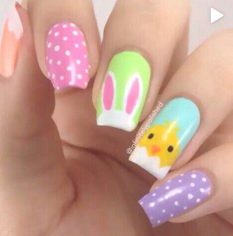 Cute Easter Nail Art...