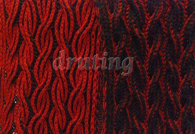druting i cały ten misz masz!: Flaming Scarf - Two colour Brioche Stitch Scarf