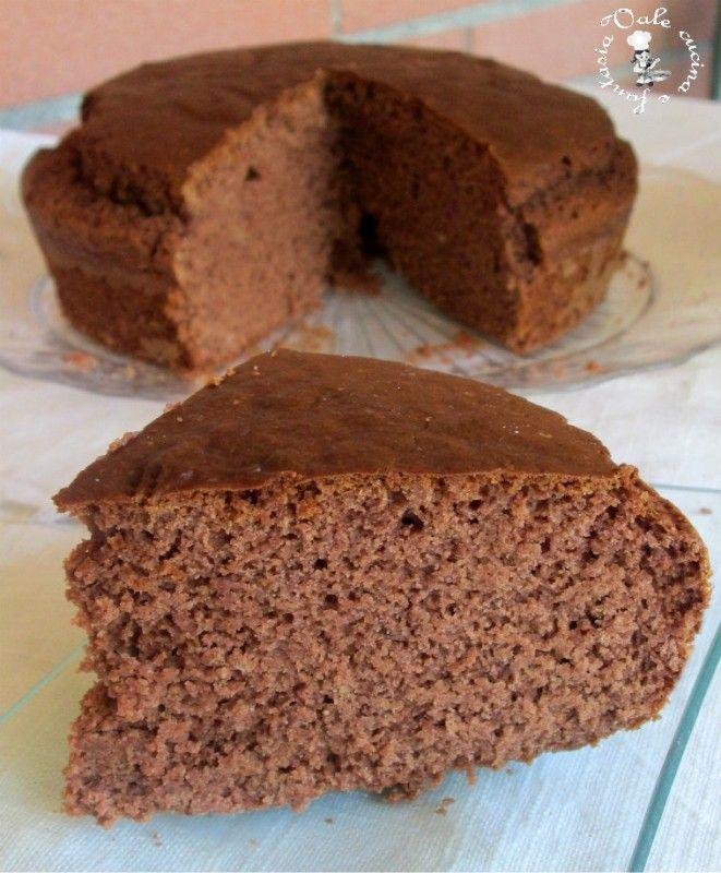 Torta al cioccolato con farina di castagne,ricetta leggera