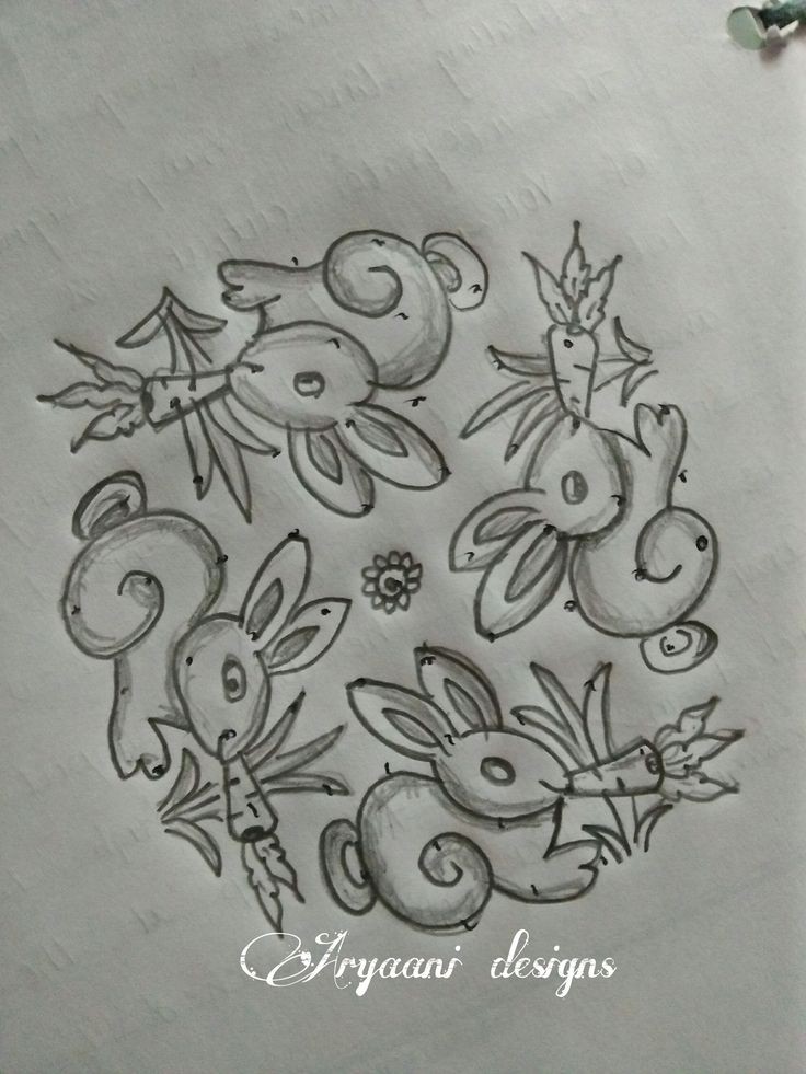 Rabbit pencil vetsion