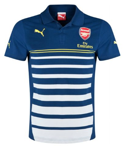 Arsenal Training Polo Blue Arsenal London Official Merchandise Available at www.itsmatchday.com
