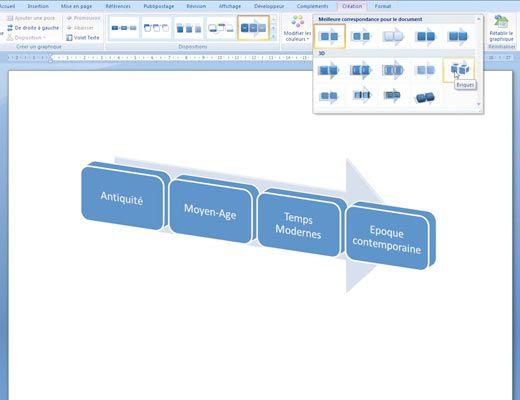 Tutoriel Word : créer une frise chronologique