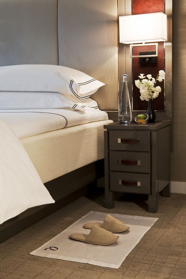 The Quinn hotel guest rooms in NYC feature sleek, smooth, soft SFERRA bedding. Luxury linens make the best sleeping partners....