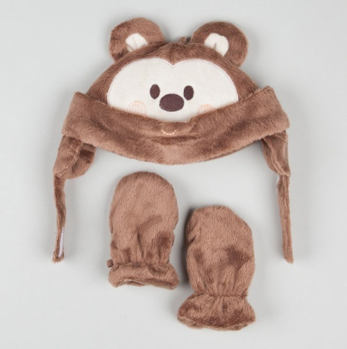 Monkey Cap And Mittens
