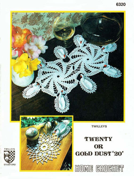 PDF Vintage 1950s Twilleys 6320 Novelty '3d' Swan Lacy