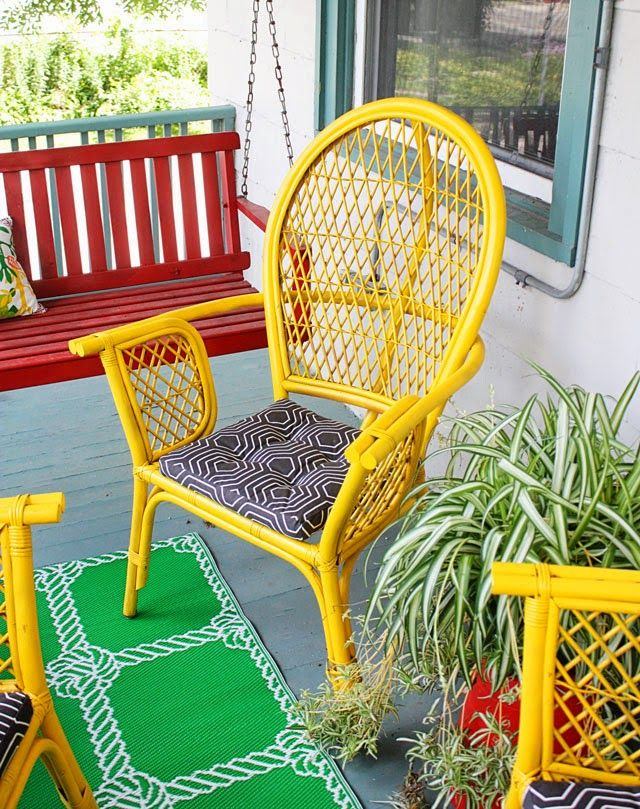 Front Porch Makeover for Under $100 - Aunt Peaches