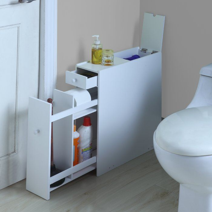 Elspeth 6 25 W X 22 75 H Cabinet Bathroom Floor Cabinets Wood Floor Bathroom Bathroom Flooring
