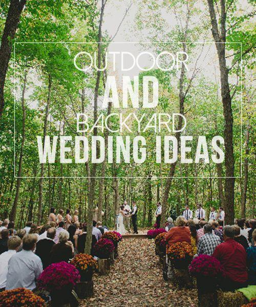 Outdoor Wedding Ideas: 1000+ Ideas About Small Backyard Weddings On Pinterest