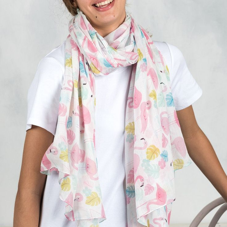 Cashmere Silk Scarf - flamingo-5 by VIDA VIDA tevC1QF5