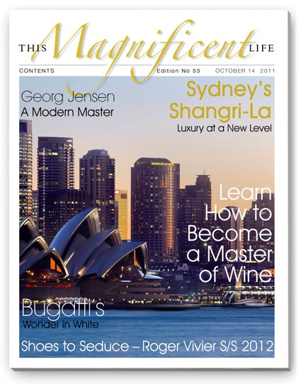 Sydney's Shangri-La Hotel graced the cover of issue 53 of ThisMagnificentLife.com - the views are even better from Blu Bar on level 36.