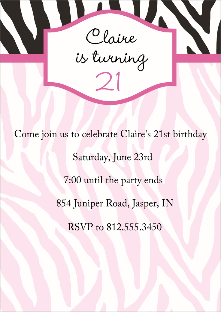 25 best invites images on pinterest | birthday party ideas, adult, Birthday invitations
