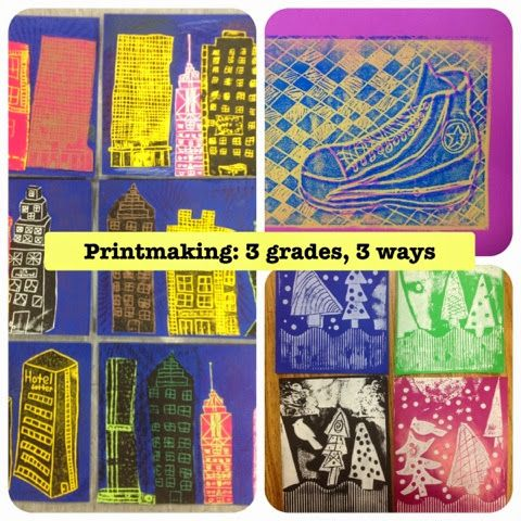 Mrs. Knight's Smartest Artists: Printmaking: 3 grades, 3 ways