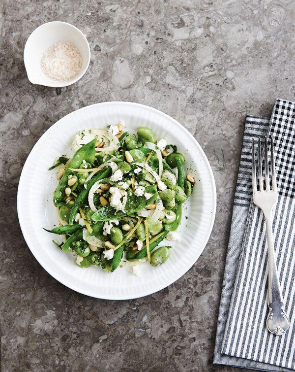 Triple Green Broad Bean Salad