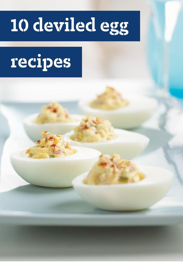 10 Deviled Egg Recipes – Use the hard-boiled eggs from your annual Easter egg hunt to make these delicious appetizer recipes.