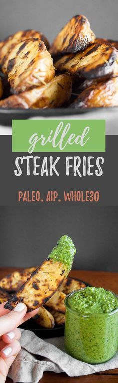 Grilled Steak Fries with Frontier Co-op | recipe, grilling, gluten free, paleo, pink himalayan sea salt, crispy, easy | #ad #CookWithPurpose #GrillTheGoodness | hungrybynature.com