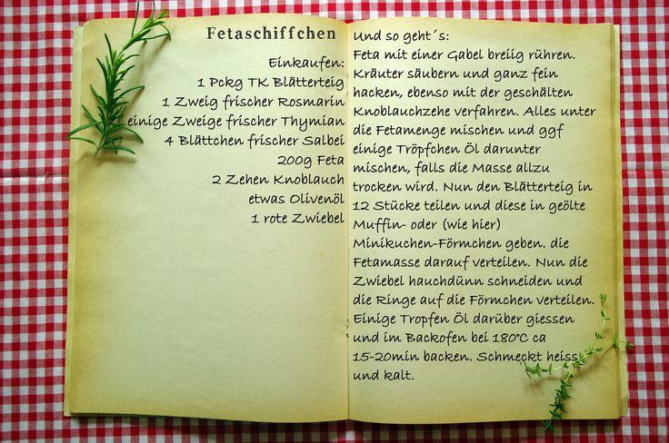 Einkaufszettel Fetaschiffchen by Glasgeflüster | Rezept/Reci… | Flickr